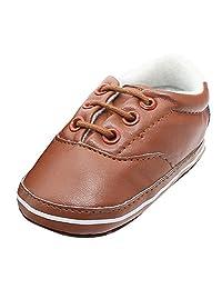 Zhengpin 0-18M Toddler Infant Leather Pram Shoes Soft Sole Boy Girls