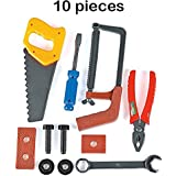 Kids Tool Set - 10 Piece Construction Tool Set – For Kids, Parties, Cinco De Mayo, Pretend Play, Playset, Fun, Toy, Gift, Prize – By Kidsco