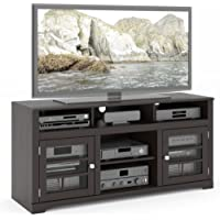 Sonax TWB-206-B West Lake TV Stand Component Bench Media Storage Unit in Mocha Black, for TV Up To 68