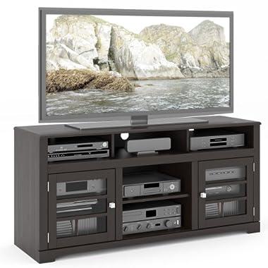 B-602-BWT West Lake 60-Inch Television Bench, Mocha Black