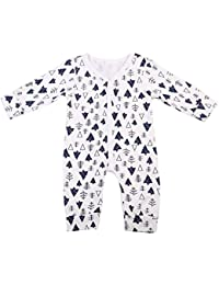 bc771928a4eb Baby Infant Toddler Boy Girl Pajamas Trees Print Footless Cotton Sleepwear  Overalls