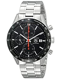 TAG Heuer Men's THCV2014BA0794 Carrera Black Guilloche Dial Watch