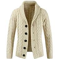 Boomboom Men's Winter Clothes, Men Casual Long Sleeve Slim Pocket Sweater