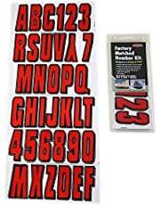 Hardline Products Series 320 Factory Matched 3-Inch Boat & PWC Registration Number Kit, Red/Black