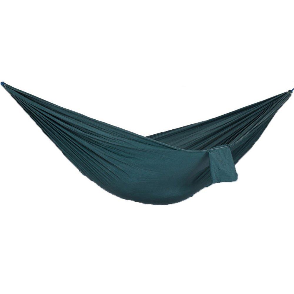 merce di alta qualità e servizio conveniente e onesto GWDJ Hammock Hammock Hammock Parachute Cloth Outdoor Double Confortevole Camping Camping Leisure Hammock Travel Amaca per Il Tempo Libero (colore   B, Dimensioni   260  145CM)  shopping online di moda