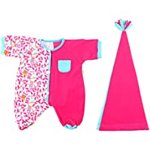 Rubens Barn Baby Doll Pajama Set, in Pink