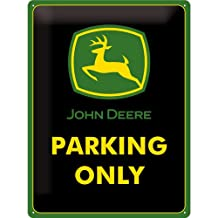 John Deere Parking Only large embossed metal sign (na 4030 gereen border) by signs-unique na