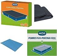 Kit Capa + Forro Para Piscina Infantil 1000 Litros - Mor