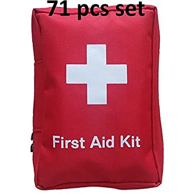 SadoMedcare V10 Classic All in One Complete First Aid Kit - 72 pieces Medical Kit, Travel Emergency Kit, Hiking First Aid Kit, Emergency Survival Go Bag