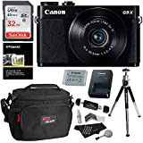 Canon PowerShot G9x Mark II Digital Camera with 3x Optical Zoom Built-in Wi-Fi LCD touch panel Black, Sandisk 32GB Memory Card, Ritz Gear Photo Pack, Polaroid Tripod, Cleaning Kit and Accessory Bundle
