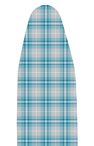 Polder IBC-9549-770 Compact Use Replacement Ironing Board Pad and Cover, Blue Plaid