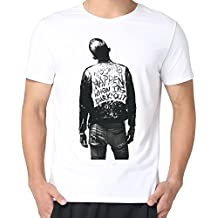 Men's G Eazy Album When It Is Dark Out Poster T Shirt White L