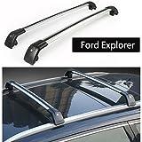 Fit for Ford Explorer 2016 2017 2018 Lockable Baggage Luggage Racks Roof Racks Rail Cross Bar Crossbar - Silver