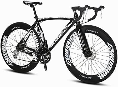 Cyrusher Machete Road Bicycle Shinano 2300 Aluminium Frame 54 cm 700C 70MM Mens Road Bike 14 Speeds Mechanical Disc Brakes