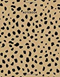 Notebook: Leopard Print Composition Notebook