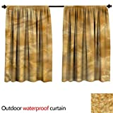 BlountDecor UPF Outdoor curtainAnti-Water W108 x L72(274cm x 194cm) Marble,Natural Rock Formation