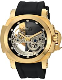 Men's 'Coalition Forces' Automatic Stainless Steel and Silicone Casual Watch, Color:Black (Model: 24708)