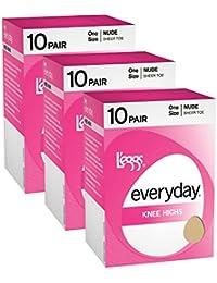 Women`s Set of 3 L`eggs Everyday Knee Highs ST - Best-Seller!