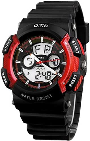 Youth outdoor sports watches/Fashion waterproof night electronic watch-L