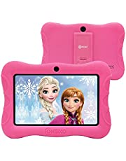 """Contixo V8-3 7"""" Android 16GB Kids Tablet Parental Control 20+ Learning Education Apps Toy Tablets for Kids Pre-Installed Looney Tunes Content with WiFi Camera Games for Child Best Gift(Pink)"""