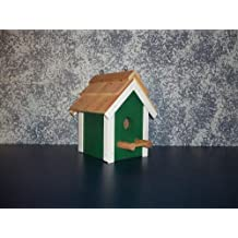 "Rustic Cedar Roof Primitive Birdhouse. This Primitive Birdhouse Is a Great Match for Your Country Home and Garden Landscape Design. Your Feathered Friends and the Bird Lovers in Your Life Will Be Delighted with It. It's an Amish Country Collectible. Measures 9 3/4"" H X 6 1/4"" W X 6 1/4"" D."