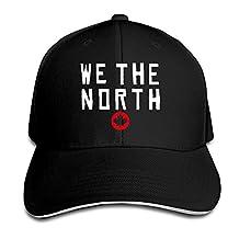 Raptors Basketball WE THE NORTH Maple Leaf Sandwich Baseball Hats For Men Women Black (8 Colors)