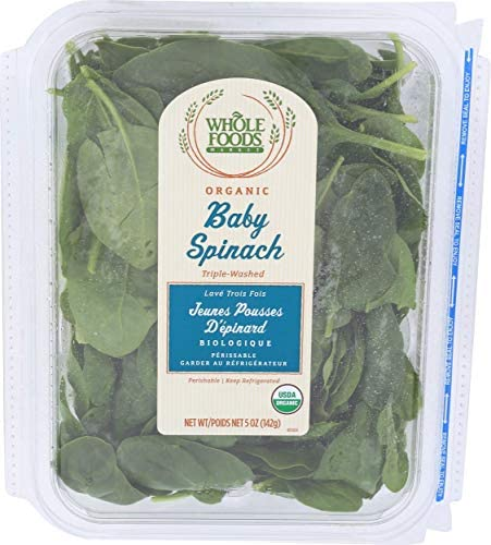 Whole Foods Market, Organic Baby Spinach Salad, 5 Ounce