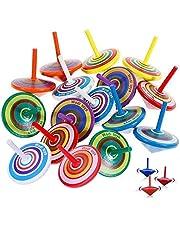 Libershine 30 st snurrande toppar, trä snurrande toppar barn, gammal tid leksak, barn födelsedagsfest gåvor, festpåse fyllning, festgåvor