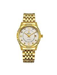 BINLUN 18K Gold Plated Watches for Men Waterproof Luxury Dress Wrist Watch Date Calendar Business Gift