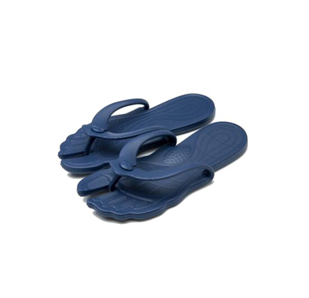 Shi xiaoshu Viaggio Portatile Pieghevole Pantofole da Viaggio Antiscivolo Scarpe da Spiaggia al Mare Scarpe da Donna morbide Blu Navy