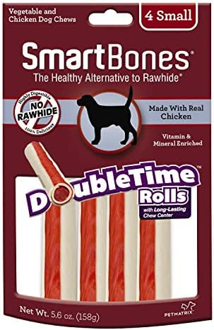 Dog Treats: SmartBones DoubleTime Rolls