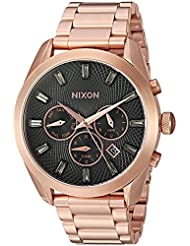 Nixon Womens Bullet Chrono Crystal Quartz Metal and Stainless Steel Watch, Color:Rose Gold-Toned (Model: A9312046...