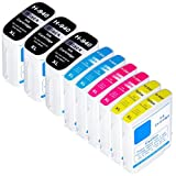 Zulu Inks Compatible Ink Replacement for HP 940XL 940 High Yield 9 Pack 3 Black, 2 Cyan, 2 Magenta, 2 Yellow For Use with HP HP Officejet 6000, Officejet 6500, Officejet 6500A, Officejet 7000, Officejet 7500A, Officejet Pro 8000, Officejet Pro 8500, Officejet Pro 8500A. E609n, E609a, E709a, E709n, E809a, E710n, E910a, E709n, E710n, A809n, A909a, A910n, A910a, A910n, A910a , A811a. Ink Cartridges C4906AN , C4907AN , C4908AN , C4909AN