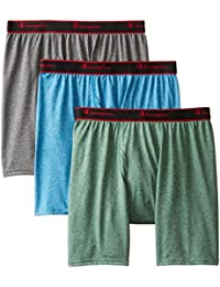 Mens 3-Pack Active Performance Regular Leg Boxer Briefs