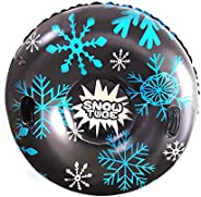 Inflatable Ski Tube with Handle, 47in Heavy Duty Freeze-Resistant Large Snow Sled Winter Outdoor Skiing Suppli