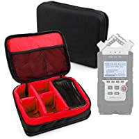 Protective EVA Case (in Red) for the Zoom H1, Zoom H2N, Zoom H4n Pro, Zoom H5 & Zoom H6 Voice Recorders - by DURAGADGET