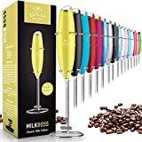Zulay Original Milk Frother Handheld Foam Maker for Lattes - Whisk Drink Mixer for Bulletproof® Coffee, Mini Foamer for Cappuccino, Frappe, Matcha, Hot Chocolate by Milk Boss