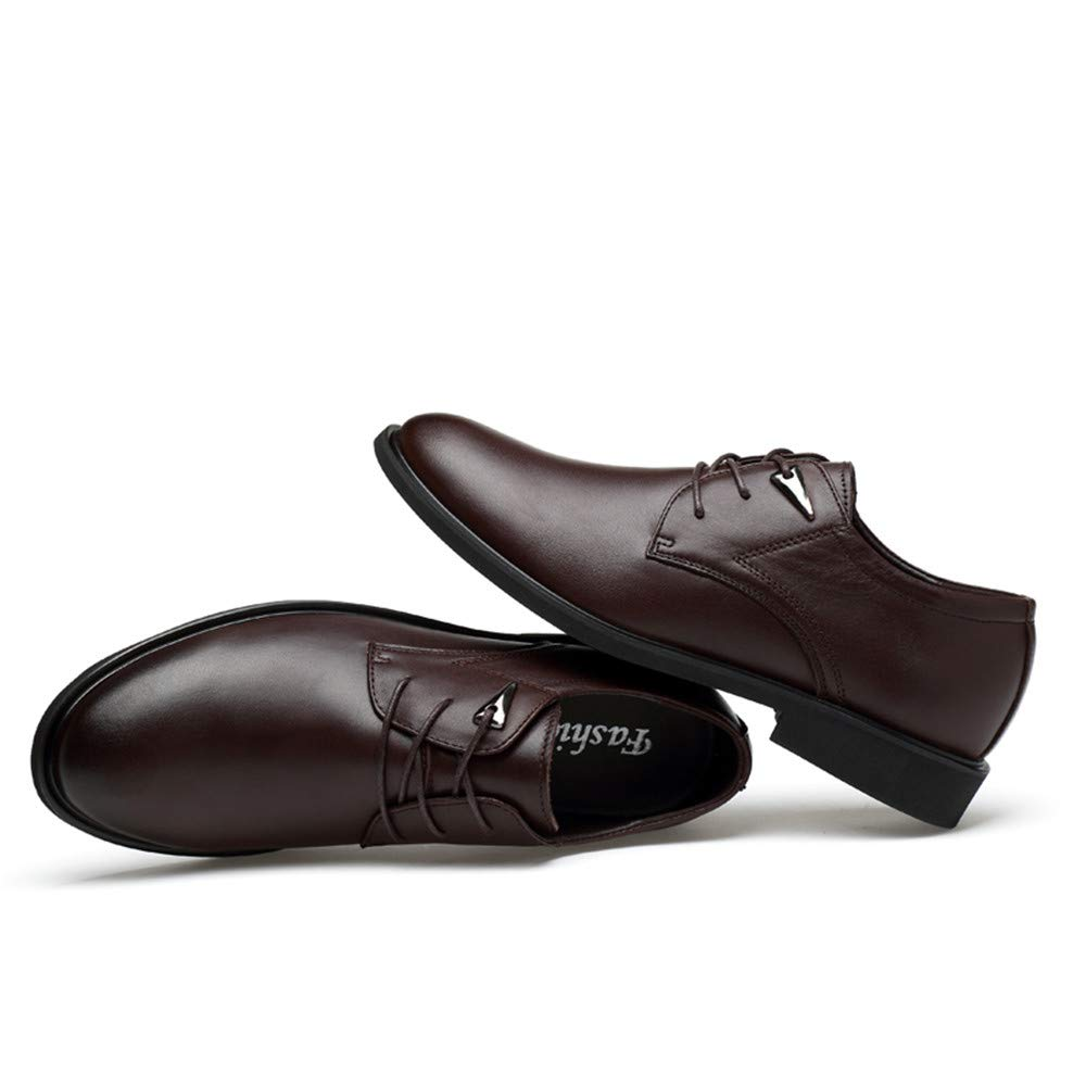 AFCITY Oxford Elegante Formelle Schuhe Geschäfts Oxford AFCITY Runde Zehe einfache Klassische Formale Schuhe Männer Mode Schuhe Hochzeit (Farbe : Light Braun, Größe : 46 EU) Dunkelbraun f84468