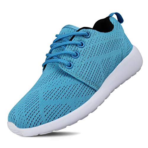 Hawkwell Breathable Lace-up Running Shoes(Toddler/Little Kid/Big Kid),Blue Mesh,12 M US Little Kid