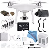 DJI Phantom 4 Pro+ Quadcopter + DJI Intelligent Flight Battery for Phantom 4 + VR VUE: 3D Virtual Reality Viewer + Multi Charger Hub For DJI Phantom 4 Intelligent Flight Batteries Bundle