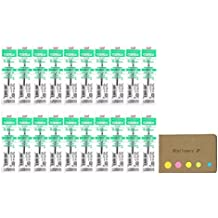 Uni-ball SXR-80-38 Refills for Jetstreem Ballpoint Pen, 0.38mm, Green Ink, 20-pack, Sticky Notes Value Set