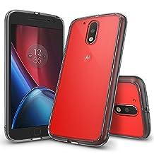 Moto G4 / Moto G4 Plus Case, Ringke [FUSION] Crystal Clear PC Back TPU Bumper [Drop Protection/Shock Absorption Technology] Protective Cover For Motorola Moto G 4 / Moto G 4 Plus 2016 - Smoke Black
