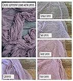 Dusty Pink Gauze Table Runner Boho Open Weave