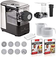 Emeril Lagasse Pasta & Beyond, Automatic Pasta and Noodle Maker with Slow Juicer - 8 Pasta Shaping Discs B