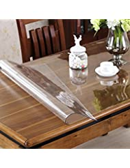 OstepDecor Custom 1.5mm Thick Crystal Clear PVC Table Cover Protector Desk Pads  Mats Multi