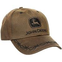John Deere Men's Waxed Cott0n Embroidered Logo Cap