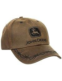 John Deere Oilskin Cap, 6-Panel One Size Fits All, Brown