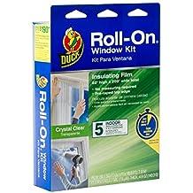 Duck Brand Roll-On Indoor 5-Window Premium Insulating Film Kit, 62-Inch x 200-Inch, 281068
