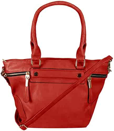 c71f91dc3b6a Shopping Leather or Rubber - 4 Stars & Up - Reds - Top-Handle Bags ...