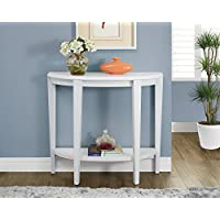 White 36L Hall Console Accent Table
